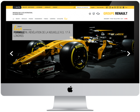 SITE INTERNATIONAL DU GROUPE RENAULT