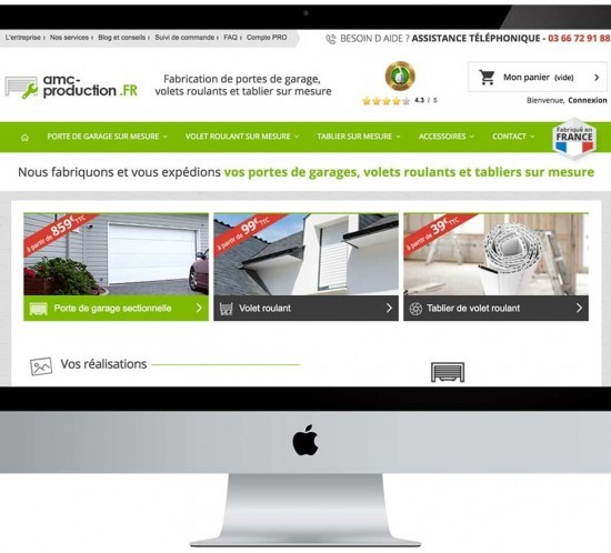 Prestashop archives publi web media for Fabricant porte de garage sur mesure