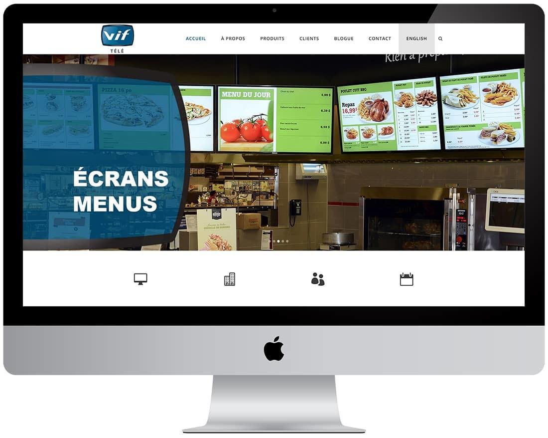 VIF Télé - Affichage numérique pour commerces et entreprises
