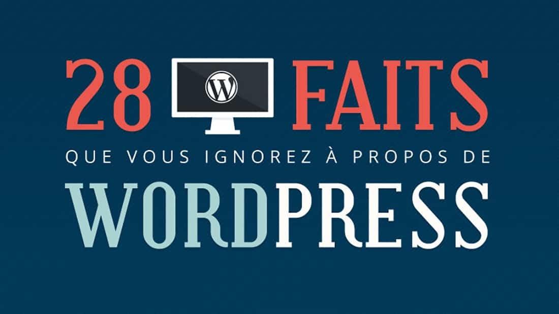 28 faits que vous ignorez à propos de WordPress